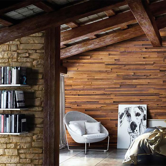 Designové panely, umělé dřevo a kamen