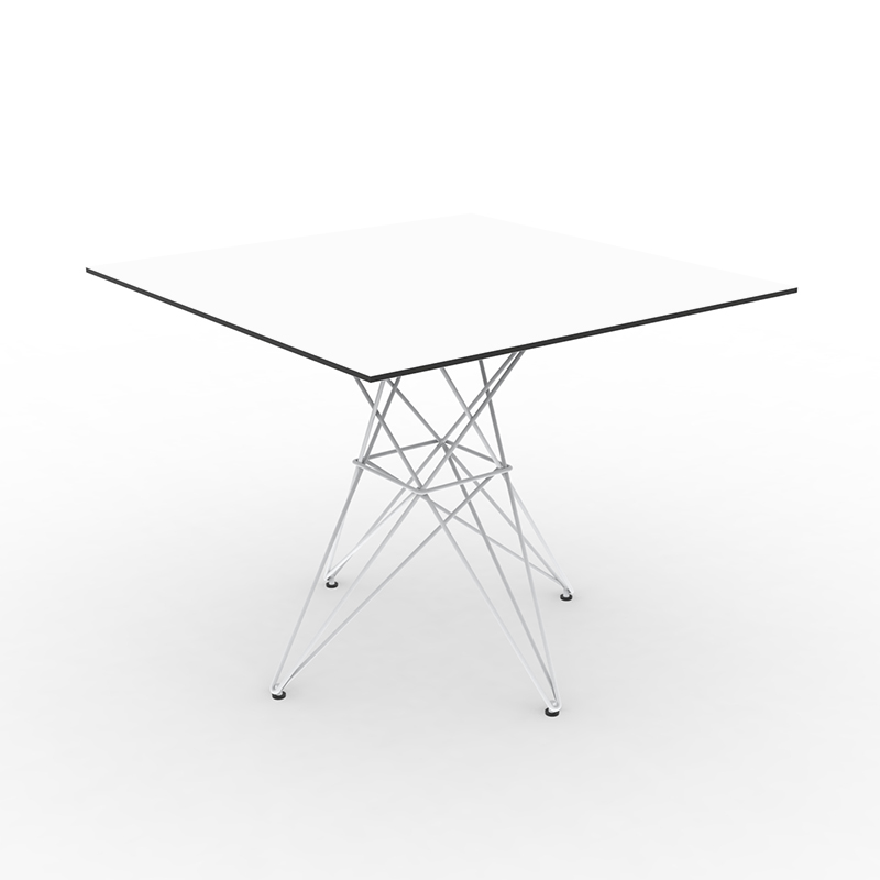 FAZ TABLE STAINLESS BASE 90x90x72